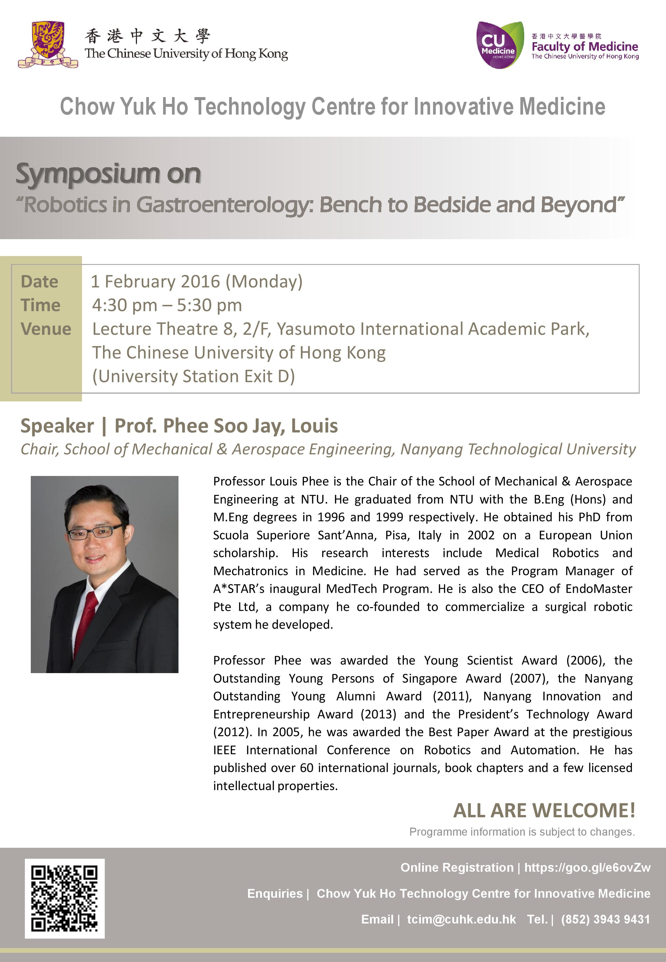 Symposium Series on Robotics in Gastroenterology: Bench to Bedside and Beyond